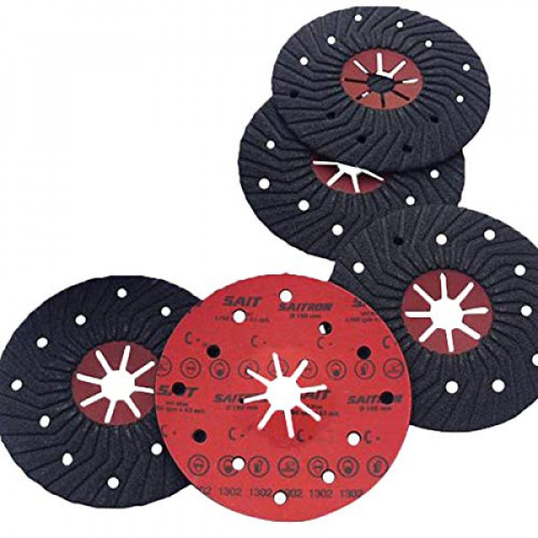 Abrasive semi-rigid discs on fibre saitron Ø125x22 from gr. P24 to P120 pcs. 5