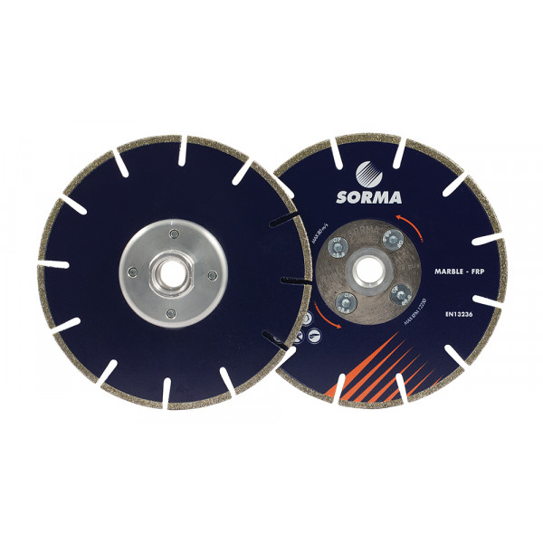 DRY CUTTING BLADES FOR ANGLE GRINDERS - SORMA - EDS