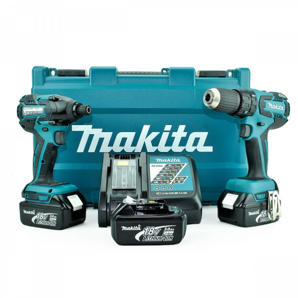 Makita DLX2007X 18V LXT Li-Ion Combi Cordless Power Tool Kit (2 Pieces)