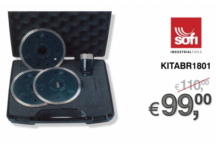 PROMO MARMOTEC - SET DIAMOND 1 FOR CUTTING AND DRILLING