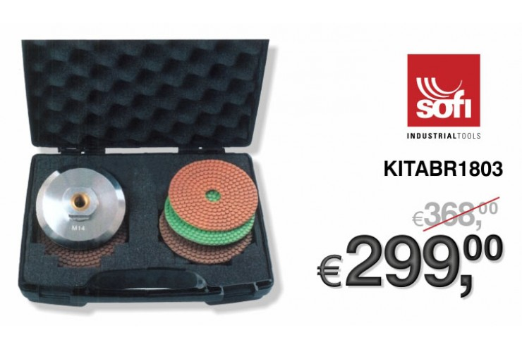 "PROMO MARMOTEC - SET POLISHING ""DRYFACE XT"""